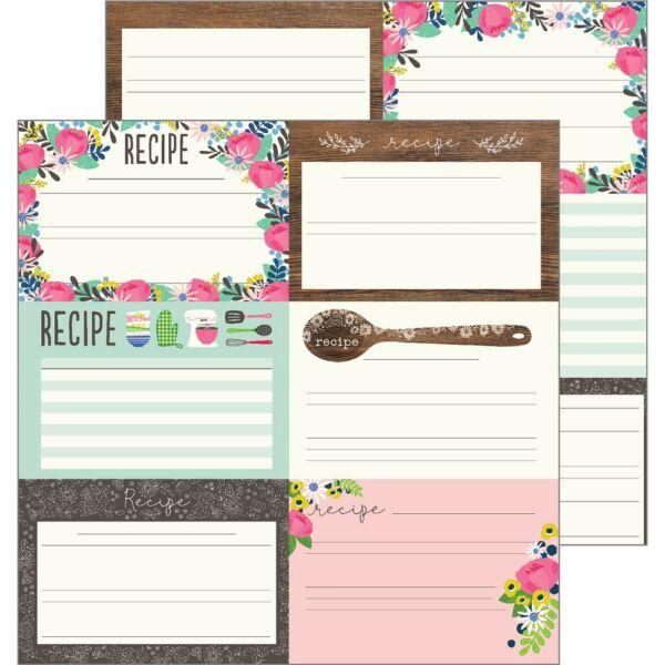 Pebbles - My Bright Life 12x12 Paper - Recipes