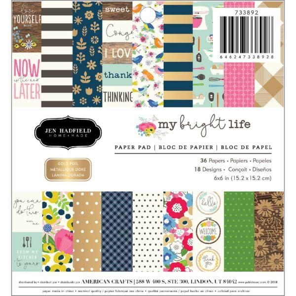 Pebbles - My Bright Life 6x6 Paper Pad