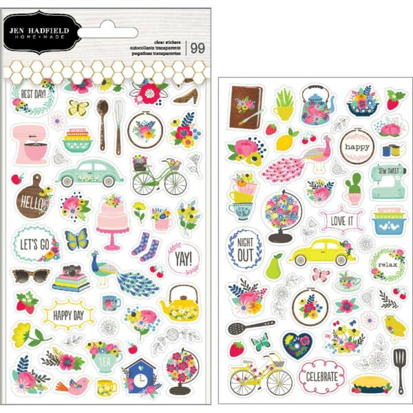 Pebbles - My Bright Life Clear Stickers