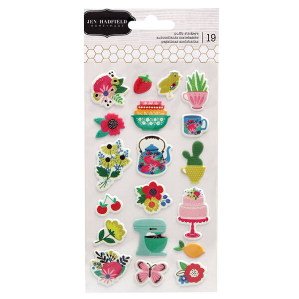 Pebbles - My Bright Life Puffy Stickers