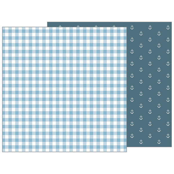 Pebbles - Nigh Night 12x12 Patterned Paper - Blue Blankie