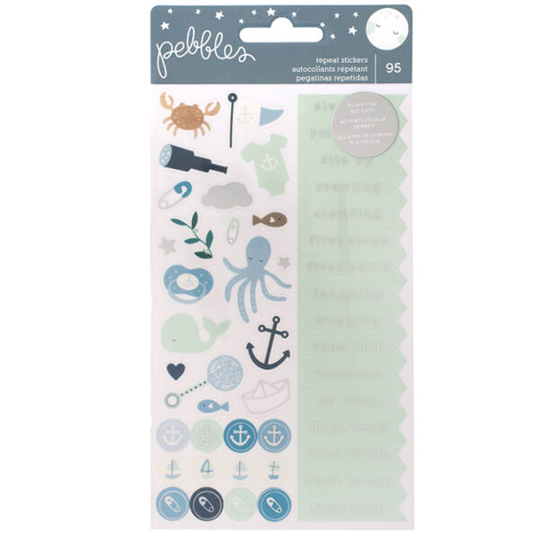 Pebbles - Nigh Night Repeat Stickers - Boy