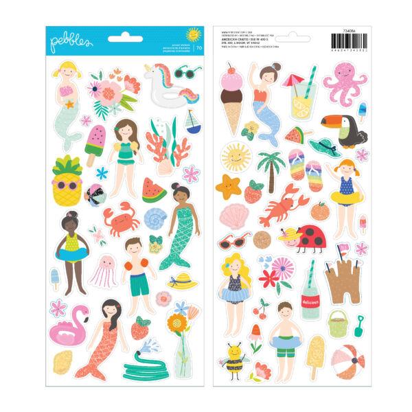 Pebbles - Oh Summertime 6x12 Sticker (70 Piece)