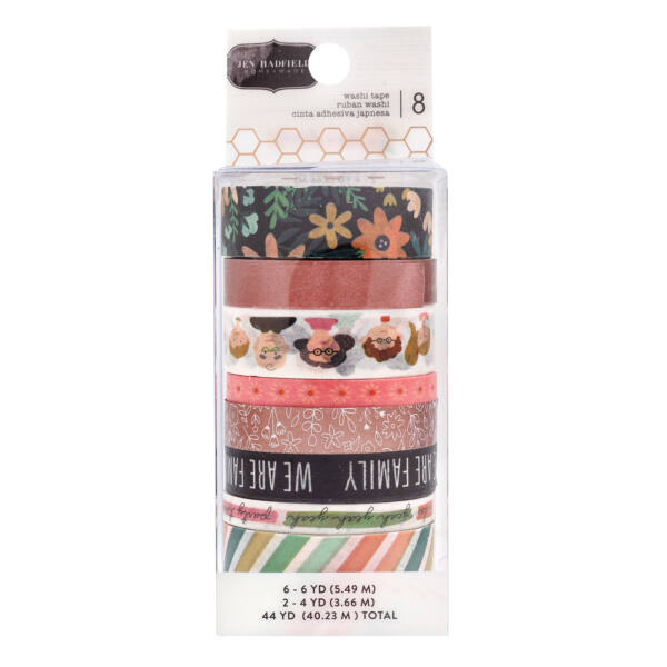 Pebbles - This is family Washi Tape Set (8 Piece)