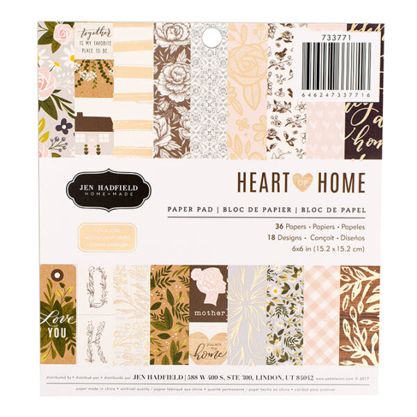 Pebbles - Heart Of Home 6x6 Paper Pad
