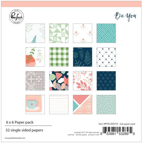 Pinkfresh Studio - Be You 6x6 Single-Sided Paper Pad