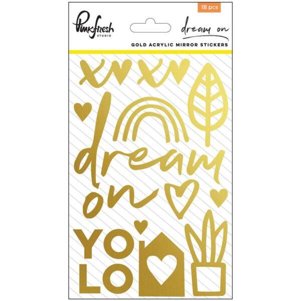 Pinkfresh Studio - Dream On Gold Mirror Stickers
