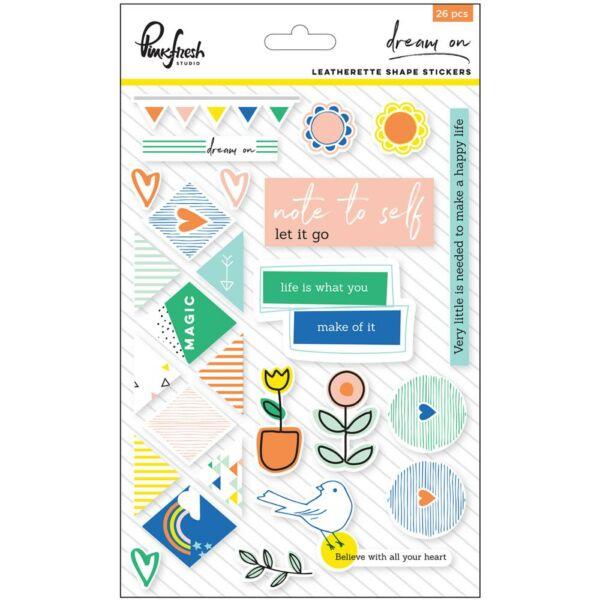 Pinkfresh Studio - Dream On Leathrette Stickers