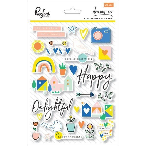 Pinkfresh Studio - Dream On Puffy Stickers