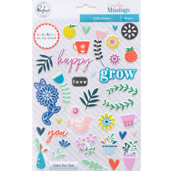 Pinkfresh Studio - Everyday Musings Puffy Stickers