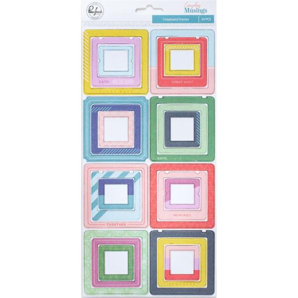 Pinkfresh Studio - Everyday Musings Chipboard Frames