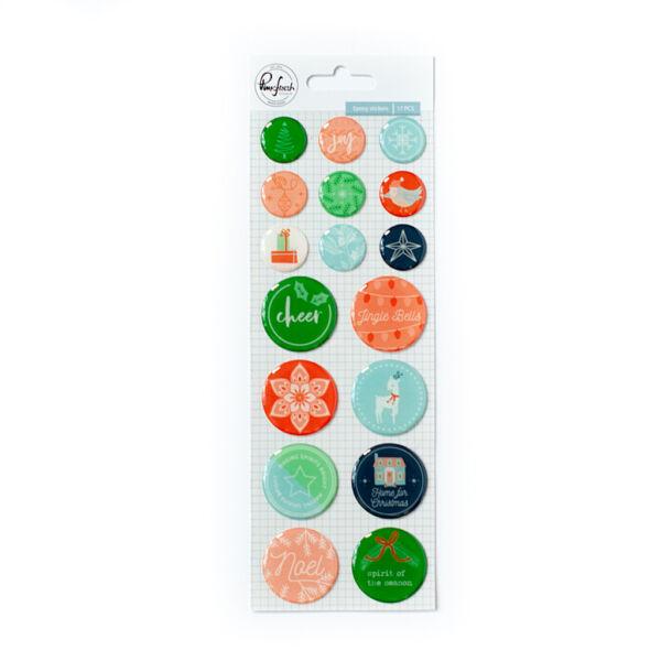 Pinkfresh Studio - Holiday Vibes Epoxy Stickers