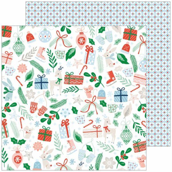 Pinkfresh Studio - Holiday Vibes 12x12 Paper - Christmas Cheer