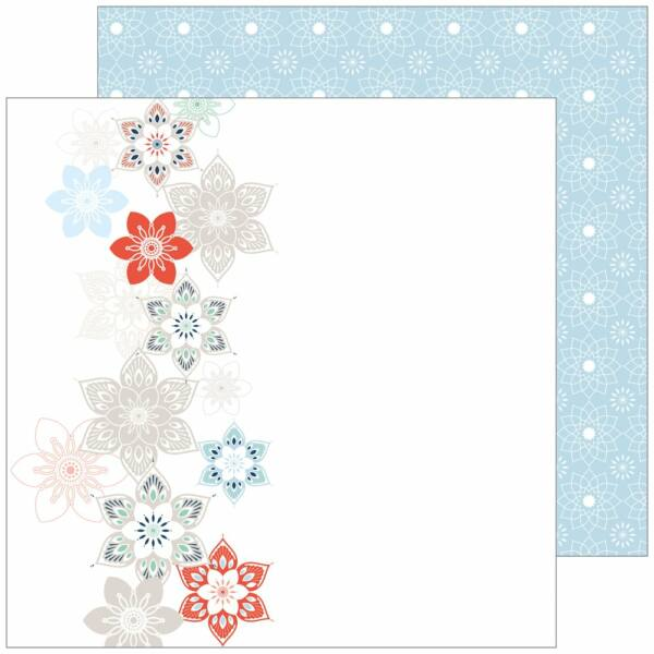 Pinkfresh Studio - Holiday Vibes 12x12 Paper - Let It Snow