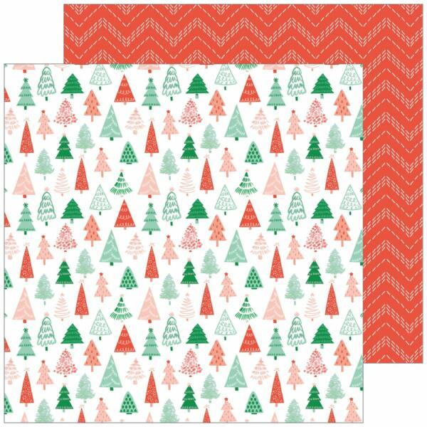 Pinkfresh Studio - Holiday Vibes 12x12 Paper - Magical Forest