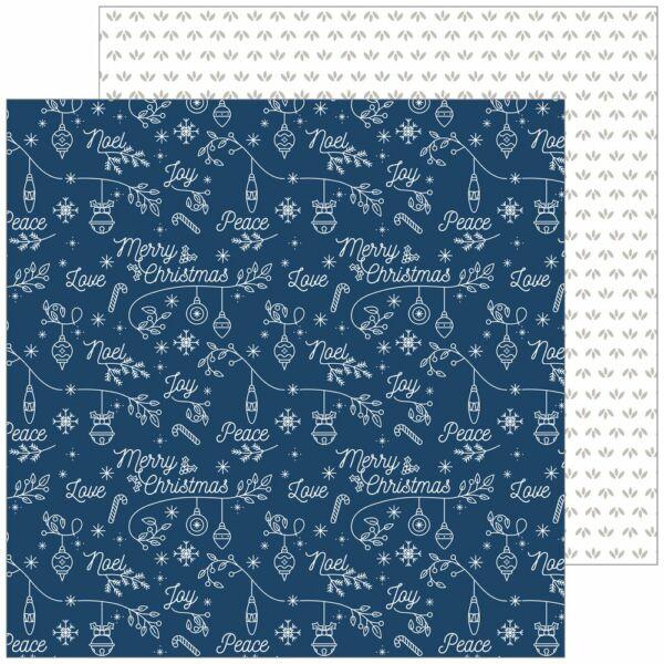 Pinkfresh Studio - Holiday Vibes 12x12 Paper - Merry Christmas