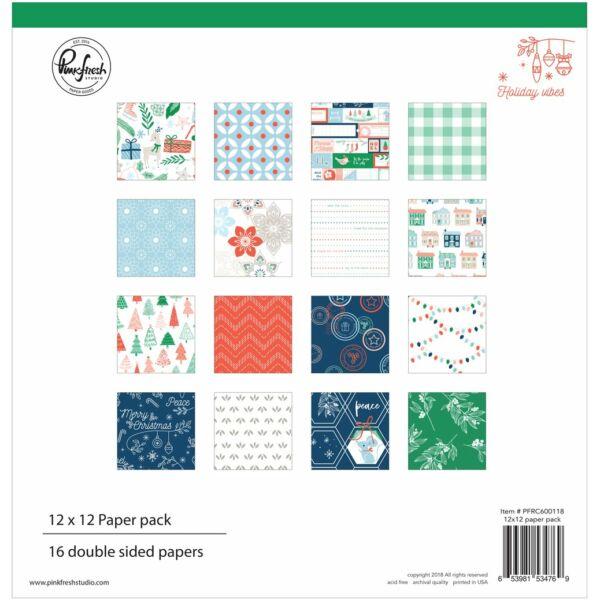 Pinkfresh Studio - Holiday Vibes 12x12 Paper Pack