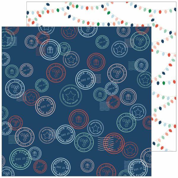 Pinkfresh Studio - Holiday Vibes 12x12 Paper - Seasons Greetings