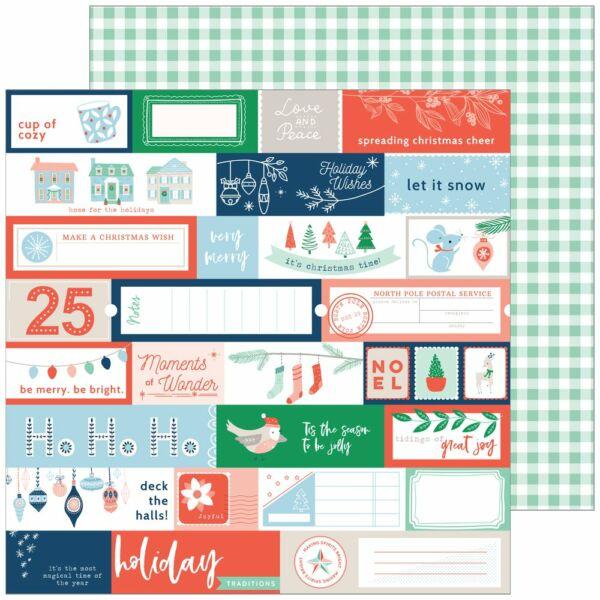 Pinkfresh Studio - Holiday Vibes 12x12 Paper - Very Merry