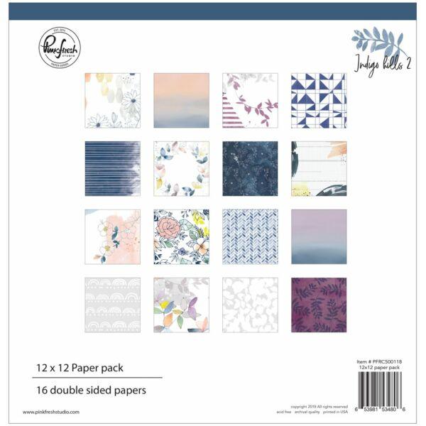Pinkfresh Studio - Indigo Hills 2 12x12 Paper Kit
