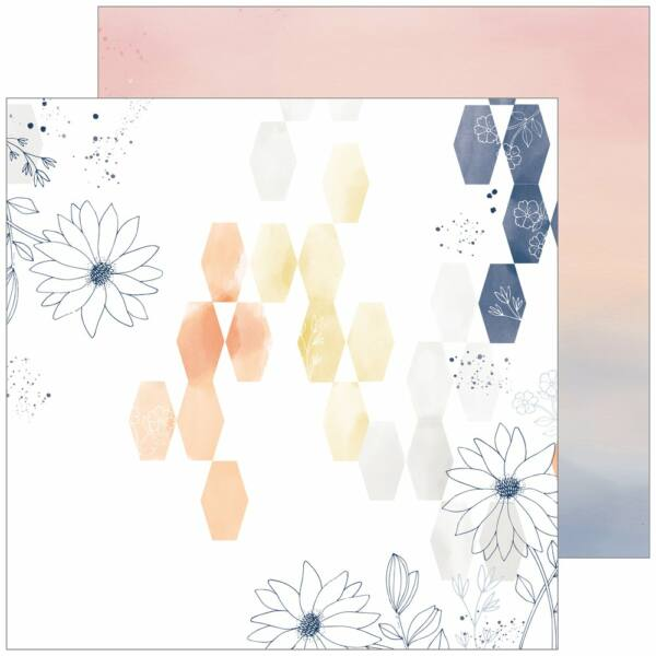 Pinkfresh Studio - Indigo Hills 2 12x12 Paper - Ridge