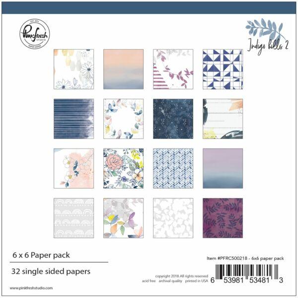 Pinkfresh Studio - Indigo Hills 2 6x6 Paper Pad