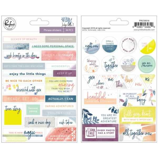 Pinkfresh Studio - Indigo Hills 2 Phrase Stickers