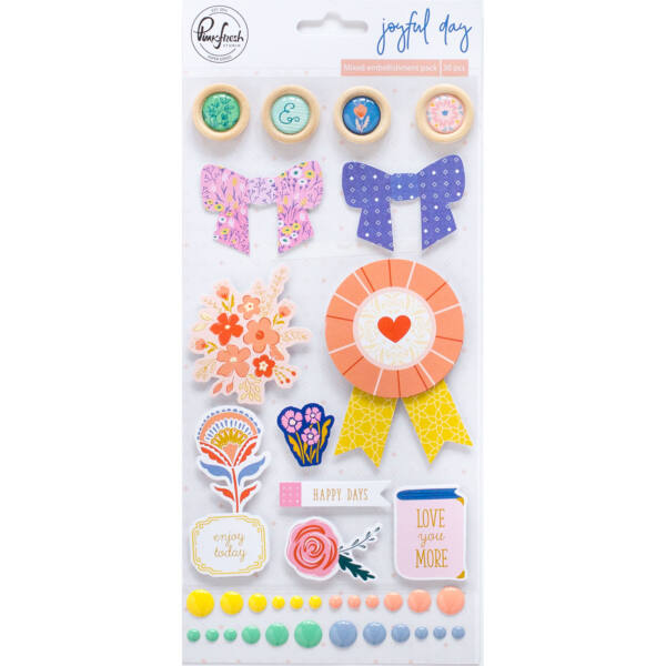 Pinkfresh Studio - Joyful Day Mixed Embellishment Pack