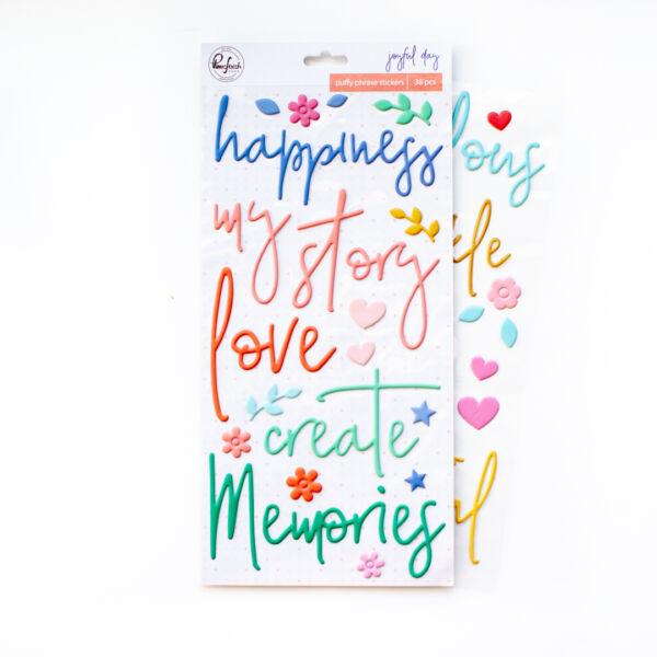 Pinkfresh Studio - Joyful Day Puffy Phrase Stickers