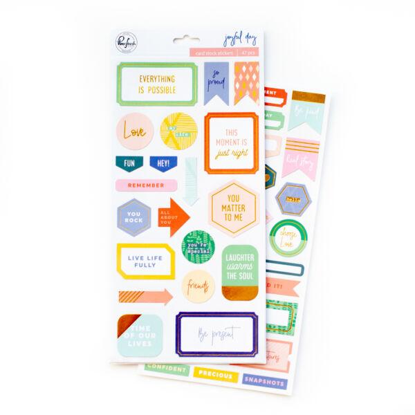 Pinkfresh Studio - Joyful Day Cardstock Stickers