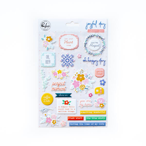 Pinkfresh Studio - Joyful Day Puffy Stickers