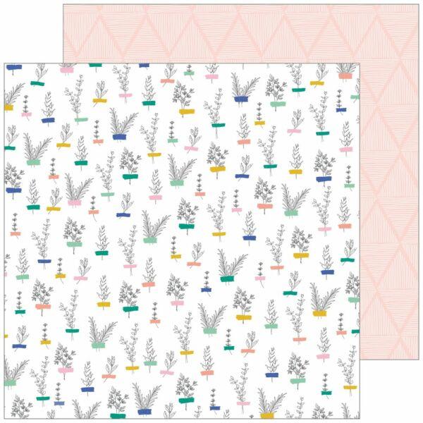 Pinkfresh Studio - Joyful Day 12x12 Paper - Small Beginnings