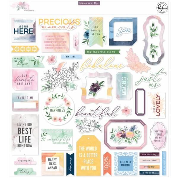 Pinkfresh Studio - Just a Little Lovely Ephemera pack