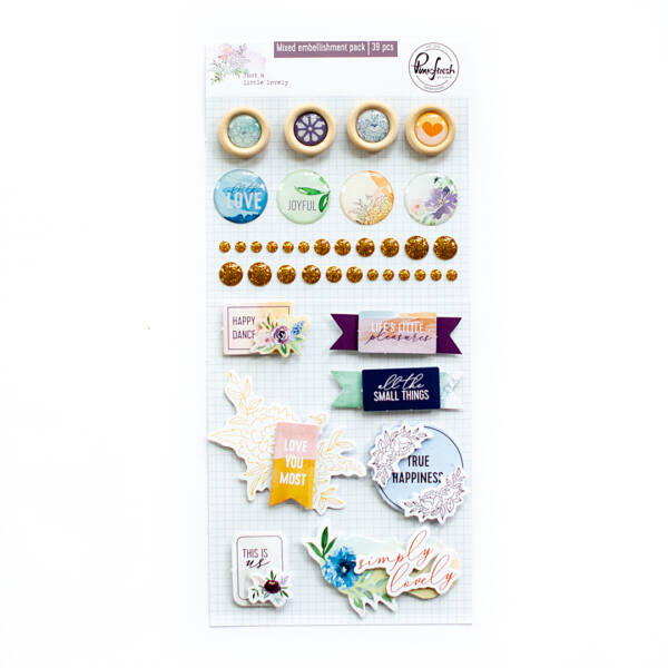 Pinkfresh Studio - Just a Little Lovely Mixed embellishment pack