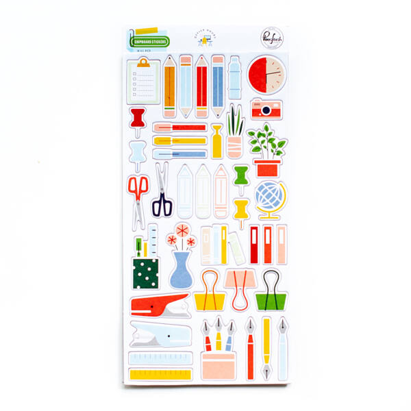 Pinkfresh Studio - Office Hours Chipboard Stickers