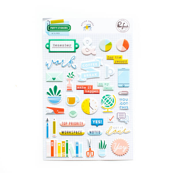 Pinkfresh Studio - Office Hours Puffy Stickers