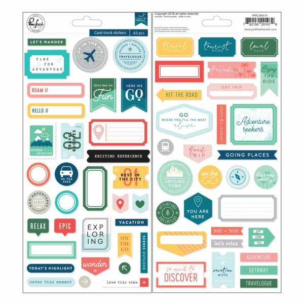 Pinkfresh Studio - Out and About Cardstock Stickers