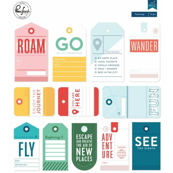 Pinkfresh Studio - Out and About Travel Tags