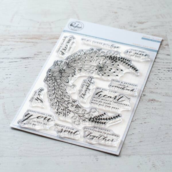 Pinkfresh Studio Stamp Set - Heart and Soul