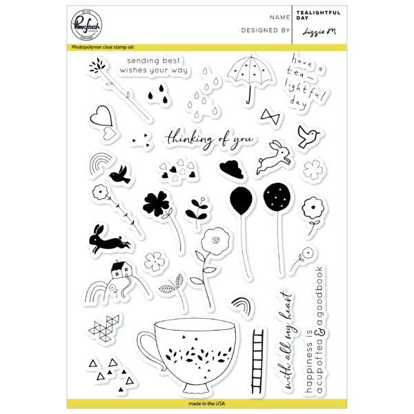Pinkfresh Studio Clear Stamp - Tealightful day