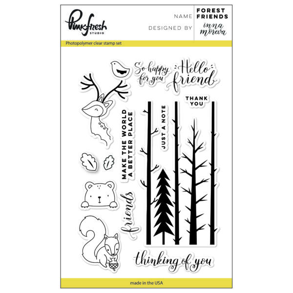 Pinkfresh Studio Forest Friends Stamp Set