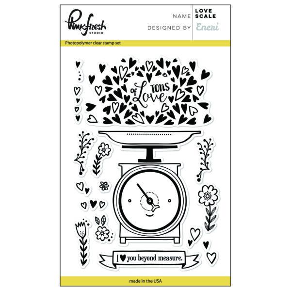 Pinkfresh Studio Love Scale Stamp Set