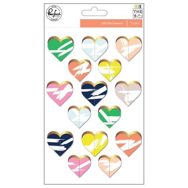 Pinkfresh Studio - The Mix No. 2 Stitched Hearts