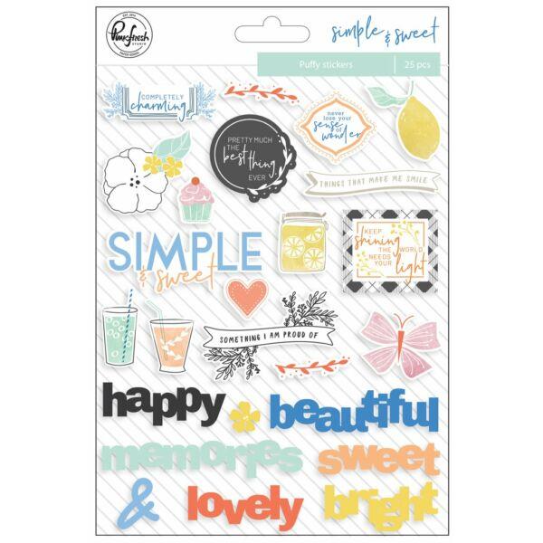 Pinkfresh Studio - Simple & Sweet Puffy Stickers
