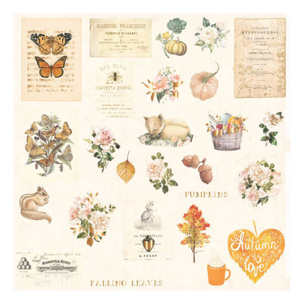 Prima Marketing - Autumn Sunset Ephemera (30 Pieces)