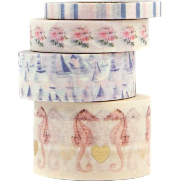 Prima Marketing - Golden Coast Decorative Washi Tape (4 Pieces)