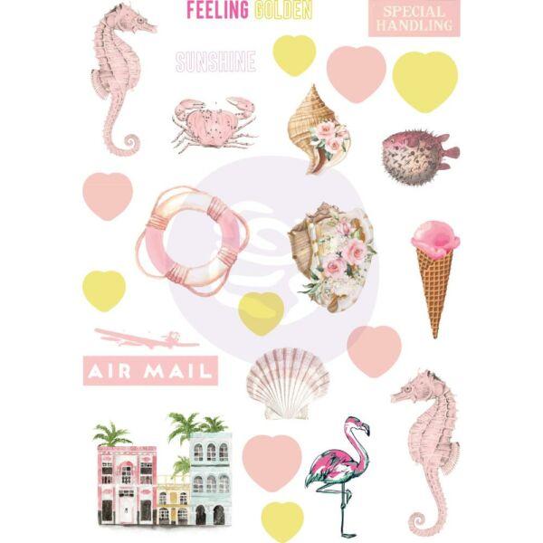 Prima Marketing - Golden Coast Puffy Stickers (24 Pieces)