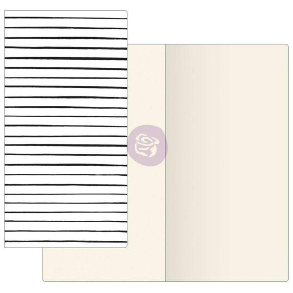 Prima Traveler's Journal Notebook Refill Ivory Paper - Modern Lines