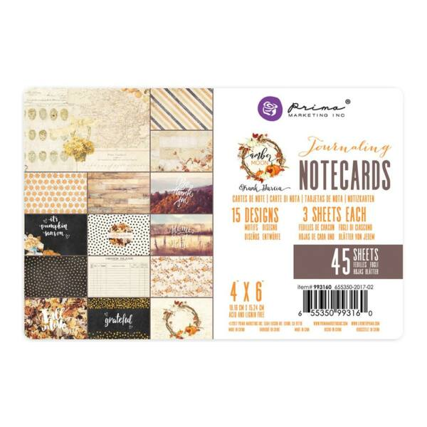 Prima Marketing - Amber Moon 4x6 Journaling Cards