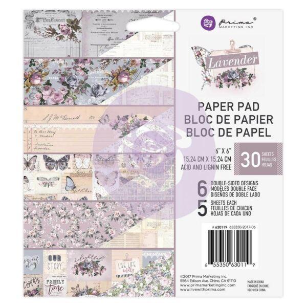 Prima Marketing - Lavender 6x6 Paper Pad